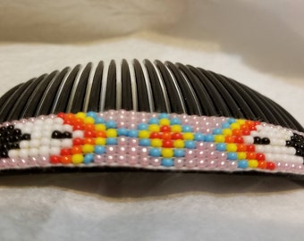 Navajo Beaded Hair Comb