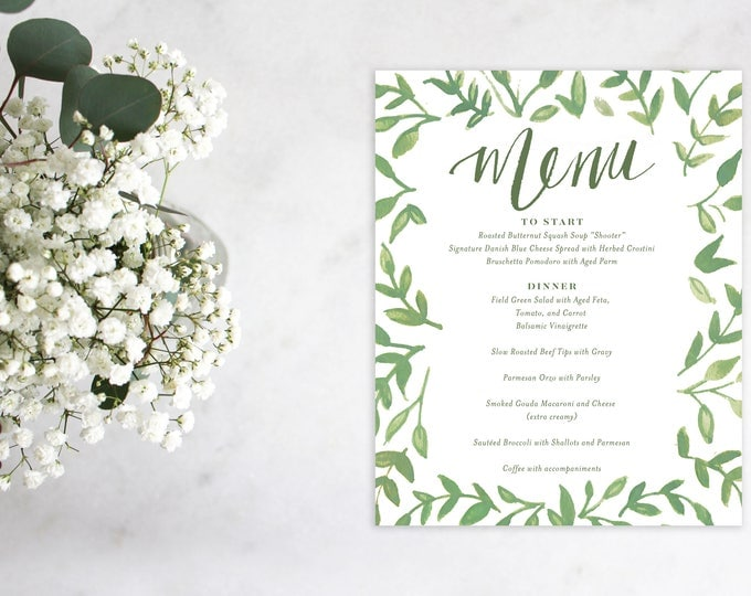 PRINTABLE Menu Sign