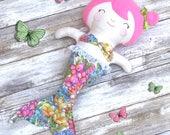 Mermaid Rag Doll - Cloth Doll - Fabric Doll - Soft Doll - Merbaby Doll