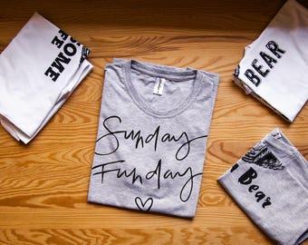 Sunday Funday shirt / Sunday Funday tank / Funday shirt / Drinking shirt / Funday tank / Weekend tank  / Fun weekend tank
