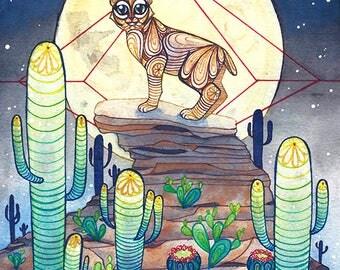 Bobcat - 8x10 Illustration Print