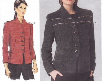 "FREE US SHIP Vogue 1418 Sandra Betzina Designer Jacket Trim Detail Collarless  32- 55"" Bust New Sewing Pattern Out of Print  Factory Folded"