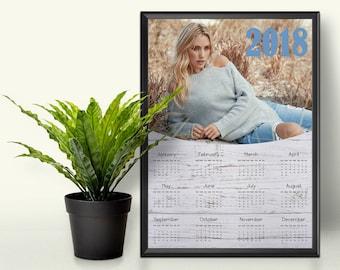photoshop calendario etsy. Black Bedroom Furniture Sets. Home Design Ideas