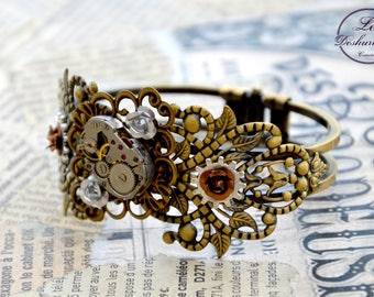 """Steampunk bracelet """"Time of the Ladies"""" refined"""