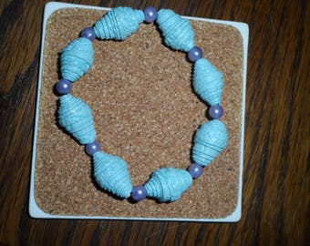 Bracelet beads wallpaper blue turquoise and purple pearl beads