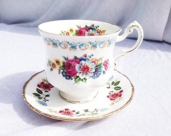 Royal Adderley Ridgway Potteries Ltd Cup And Saucer Set Flowers Vintage Royal Adderley China Floral High Tea Set