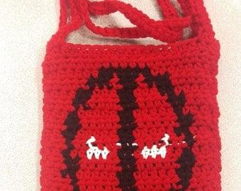 Crocheted Deadpool Bag