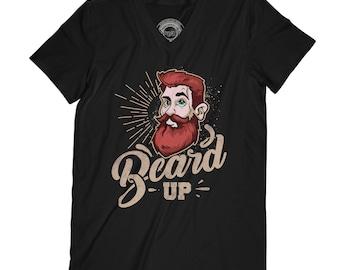 Beard t-shirt mustache t-shirt male t-shirt funny t shirt beard up shirt hipster shirt fathers day shirt meme t-shirt AP80