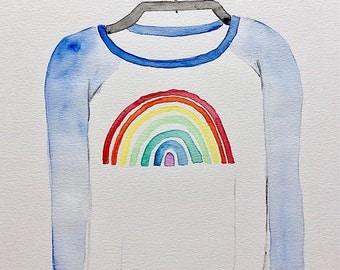 Rainbow shirt Rainbow sweater colorful illustration