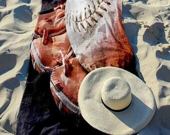 "Beach Towel ""Ball and Glove"" 30"" x 60"""