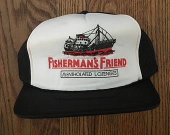 Vintage Fisherman's Friend Mesh Trucker Hat Snapback Hat Baseball Cap
