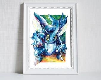 Pokemon Print ~ Heracross