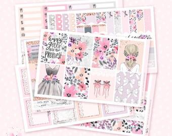 Pretty Girl - Planner sticker kit / 6 sheets - for the vertical Erin Condren or Happy Planner
