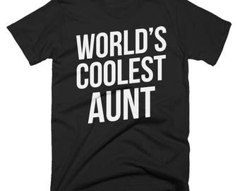 Worlds Coolest Aunt T-Shirt, Funny, Best Aunt T-Shirt, Birthday Gift, Present For Aunt