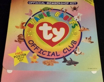 Vintage 1990's Beanie Babies Official Membership Kit