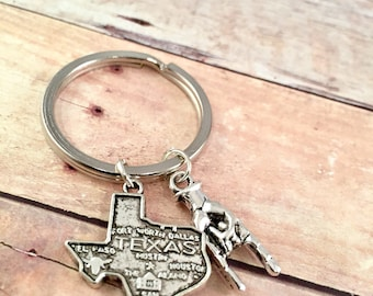 Texas Longhorn keychain, Texas State, UT Texas Longhorn charm, Lone Star Necklace, Hook Em Horns, State of Texas Charm, Texas College