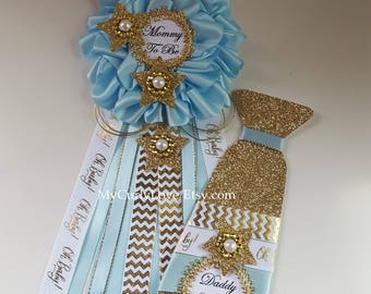 Star Baby Shower Mommy to be Corsage/Twinkle Star Baby Shower Mommy to be Pin/Twinkle Star Baby Shower Mommy to be Corsage/Star Mommy Pin