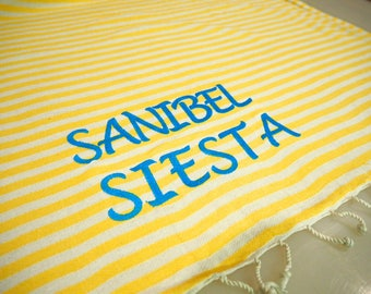Personalized Turkish Towel,Embroidery Service For Turkish Towels,Monogrammed Turkish Towel,Add Embroidery To Your Towel,embroidered Towel