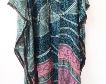 Festival Kimono// Silk Kimono from India // Kimono Dress // Plus Size Kimono / Hippie Maxi Duster /  Gift Ideas for Her / Holiday Gift Ideas