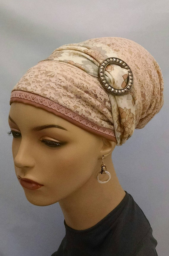Exquisite lace and cotton sinar tichel, tichels, head scarf, chemo scarves