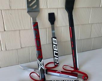 BAUER Hockey Stick BBQ Tools - 4 Piece Set