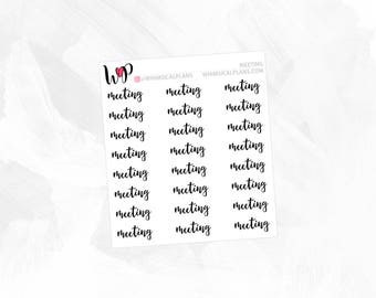 Meeting | Clear Matte Glossy Planner Stickers