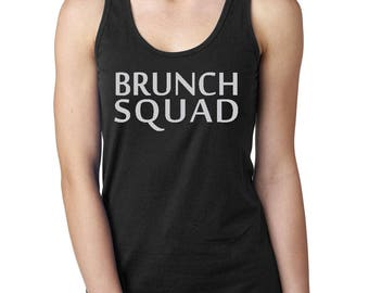 Brunch Squad Tank Top - Brunch Squad Racerback Tank - Funny Women's Tank - Bachelorette Party Tee - Sunday Funday Tank - Funny Wine Tank Top