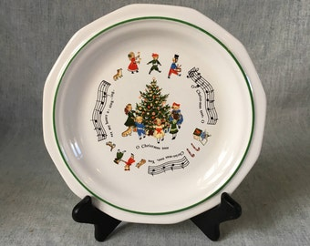 Vintage Pfaltzgraff Christmas Heritage Child's Plates, O Christmas Tree
