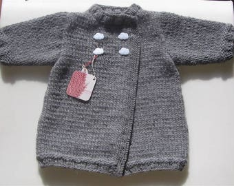 Baby birth cloud grey coat