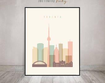 Wall art, Toronto print, Toronto skyline, Poster, Wall art, Canada, City print, Travel, Typography art, Home Decor, Gift, ArtPrintsVicky