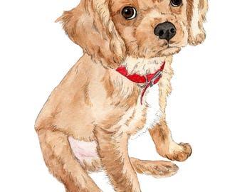 Custom Pet Portrait+Accesories-DIGITAL. Personalised Dog Illustration-Gift-Pet Portrait-Printable-Cat-Gift-Dog-Illustration