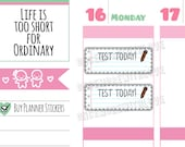 Back to School! Test Today Planner Stickers (V121)