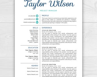 Functional Resume Format Excel Free Resume Template  Etsy Difference Between Resume And Cover Letter with Achievements On Resume Pdf Resume Resume Template Resume Design Resume Template Word Resume Cover  Letter Sterile Processing Technician Resume
