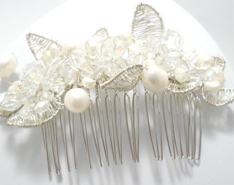 Bridal Hair Comb, Pearl Hair Comb,  Decorative Hair Comb, Wedding Hair Comb, Pearl Hair Piece, Bridal Hair Accessories, Wedding Hair Piece