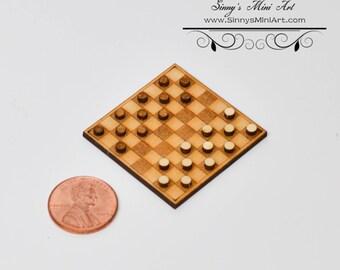 1:12 DIY Dollhouse Miniature Checkers Kit/Miniature Checkerboard/Miniature Toy SMA Q004