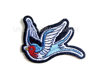 Patch, badge fusible swallow 74 x 55 mm