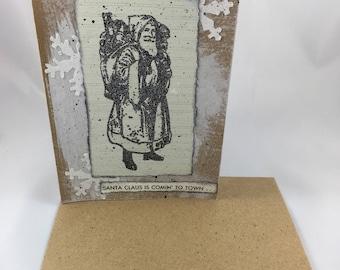 Old Santa Card