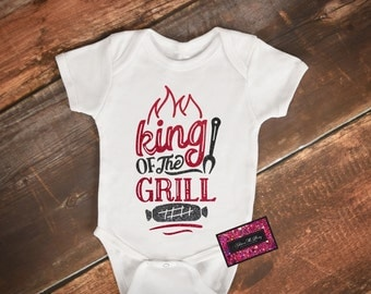 Glitter Baby Onesie - King Of The Grill