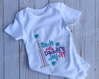 Made On Daddy's Day Off, Oilfield Bodysuit, Oilfield Shirt, Oilfield Baby shirt, Oilfield bodysuit