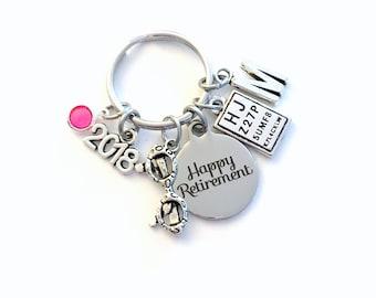 Retirement Gift for Optometrist Keychain, 2018 Optometry Ophthalmologist Key Chain Keyring for her men letter initial him Glasses Eye chart