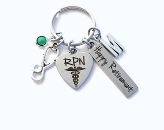 Retirement Gift for RPN Keychain, Registered Practical Nurse Key Chain, Men Women Nursing Keyring, Present him her charm RNP practitioner