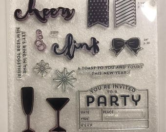 S1611 / New Year's Cheer / Stamp Set / Close To My Heart / CTMH / Acrylic Stamp Set / Clear Stamp Set / Stamp of the Month / SOTM