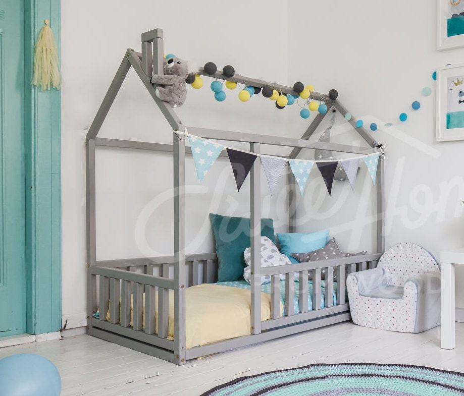Frame bed TWIN children bed play tent house bed toddler