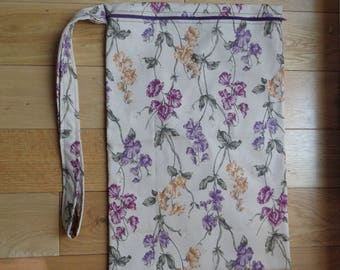 Muddy Boot Poppins Waterproof Lined Zip Pouch  Boot Bag  Welly Bag  Wellington Bag - Travel  Luggage - Wet Weather - PE - Sweet Pea Fabric