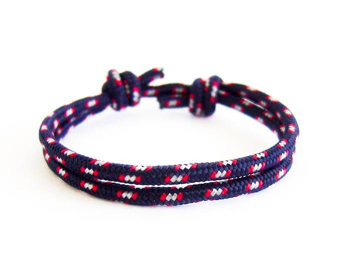 Rope Bracelet Ladies, Vanities Rope Bracelet. Womens Yacht Rope Bracelet In Oceana Blue With Sliding Knot. Emergency And Survival Jewelry