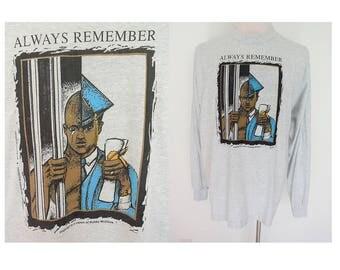Vintage 1997 Howard Law Black University historic washington DC heather gray grey long sleeves tee tshirt