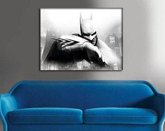 Batman Gifts - Batman Canvas - Batman decal - Canvas Print - Batman Birthday - Gift for him - Batman Print - Wall Decor - Free Shipping