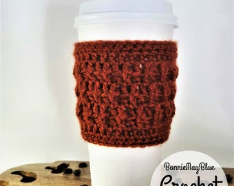 Cup Cozy Pattern, Instant Download Crochet PATTERN, Coffee Sleeve, Travel Mug Cozy, To go Cup Cozy, Mug Warmer, PDF Pattern, Mug Cozy