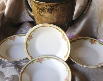 Dessert Bowls Vintage Set Limoges Haviland mark 4 pieces