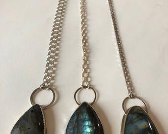 Labradorite Shield Necklace